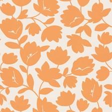 White/Orange Wallcovering by Kravet Wallpaper