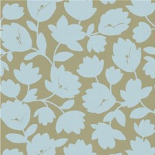 Beige/Light Blue Botanical Wallcovering by Kravet Wallpaper