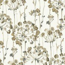 Ivory/Light Blue/Taupe Botanical Wallcovering by Kravet Wallpaper