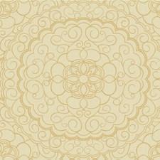 Gold/Beige Medallion Wallcovering by Kravet Wallpaper