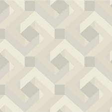 Ivory/Beige/Silver Modern Wallcovering by Kravet Wallpaper
