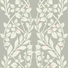 Taupe/Ivory/Metallic Botanical Wallcovering by Kravet Wallpaper