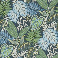 Indigo Botanical Wallcovering by Kravet Wallpaper