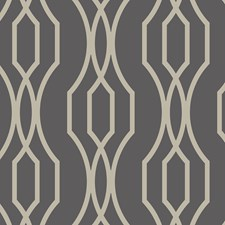 Charcoal/Metallic Modern Wallcovering by Kravet Wallpaper