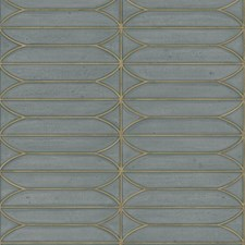 Grey/Gold Geometric Wallcovering by Kravet Wallpaper