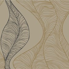 Beige/Black/Gold Modern Wallcovering by Kravet Wallpaper
