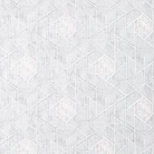 Light Grey/Silver/Metallic Geometric Wallcovering by Kravet Wallpaper