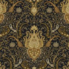 Black/Amber/Rust Damask Wallcovering by York