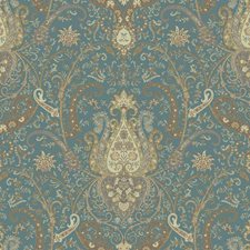Tea/Cocoa/Milk Chocolate Damask Wallcovering by York