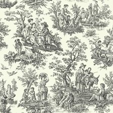 Cream/Black Toile Wallcovering by York