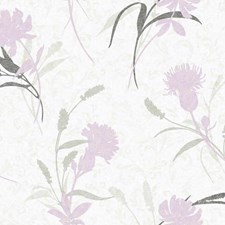 White/Grey/Silver Gleam Botanical Wallcovering by York