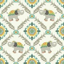 White/Aqua Light Grey/Turquoise Animals Wallcovering by York