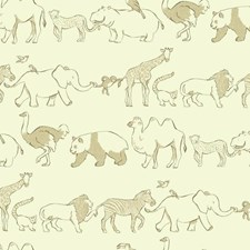 Cream/Tan/Brown Animals Wallcovering by York