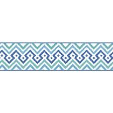 White/Dark Blue/Teal Geometrics Wallcovering by York