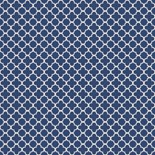 Navy Blue/White Trellis Wallcovering by York