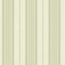 Aqua/Teal/White Stripes Wallcovering by York