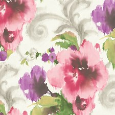 Pink/White Wallcovering by Scalamandre Wallpaper