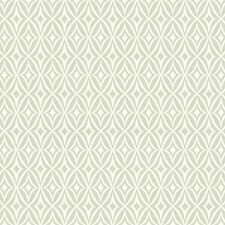 Soft Grey/White Geometrics Wallcovering by York