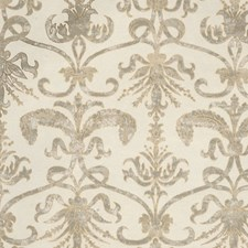 Ivory/Gold On Aqua Wallcovering by Scalamandre Wallpaper