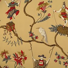 Multi On Tea Wallcovering by Scalamandre Wallpaper