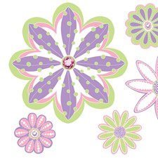 WPB0600 Patchwork Daisy Blox Decals by Brewster
