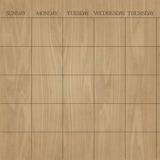 WPE1586 Hardwood Monthly Dry Erase Calendar Decal by Brewster