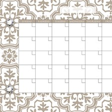 WPE96836 Kolkata Monthly Dry Erase Calendar Decal by Brewster