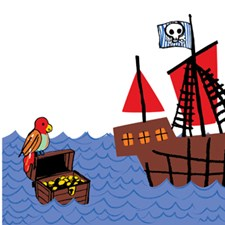 WPS0607 Argh Pirates Stripes Decal by Brewster