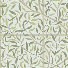 Cream/Green/Brown Wallcovering by Scalamandre Wallpaper
