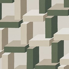 Green/Beige Wallcovering by Scalamandre Wallpaper