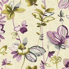Creamy Pearl/Purple/Grey Floral Medium Wallcovering by York