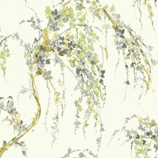White/Grey/Yellow Animals Wallcovering by York