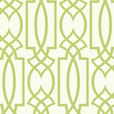 White/Yellow/Green Lattice Wallcovering by York