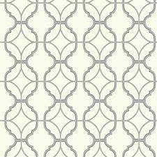 White/Grey/Black Geometrics Wallcovering by York